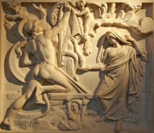 Medea shows Jason the Fleece