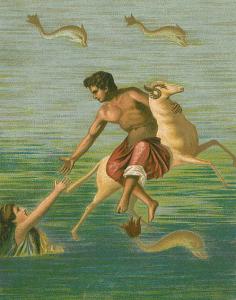 Phrixus, Golden Ram, Helle drowning