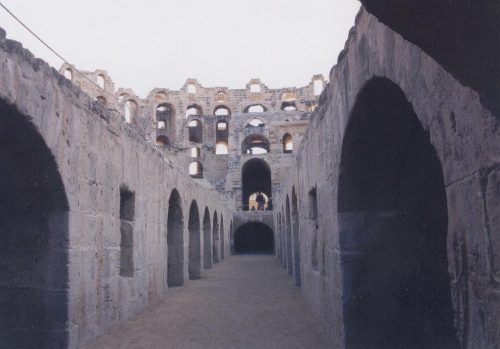 Cells beneath the Amphitheater floor Thysdrus ('El Jem')