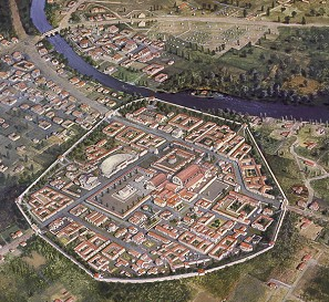 Artist's reconstruction of Aquae Sulis