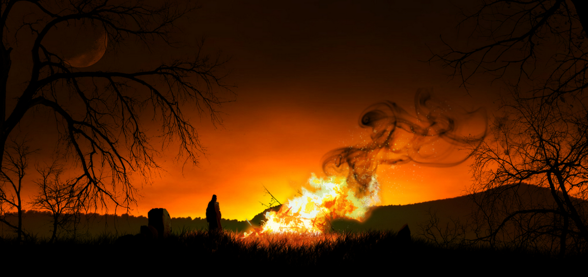 Samhain Bonfire (photo from galleryhip.com)