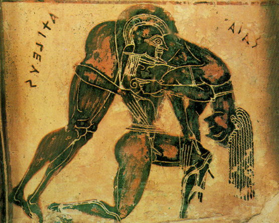 Ajax carrying the body of Achilles from the battlefield
