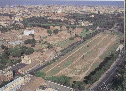 Ruins of the Palatine Hill and the Circus Maximus