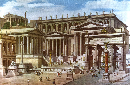 Artist Reconstruction of the Roman Forum