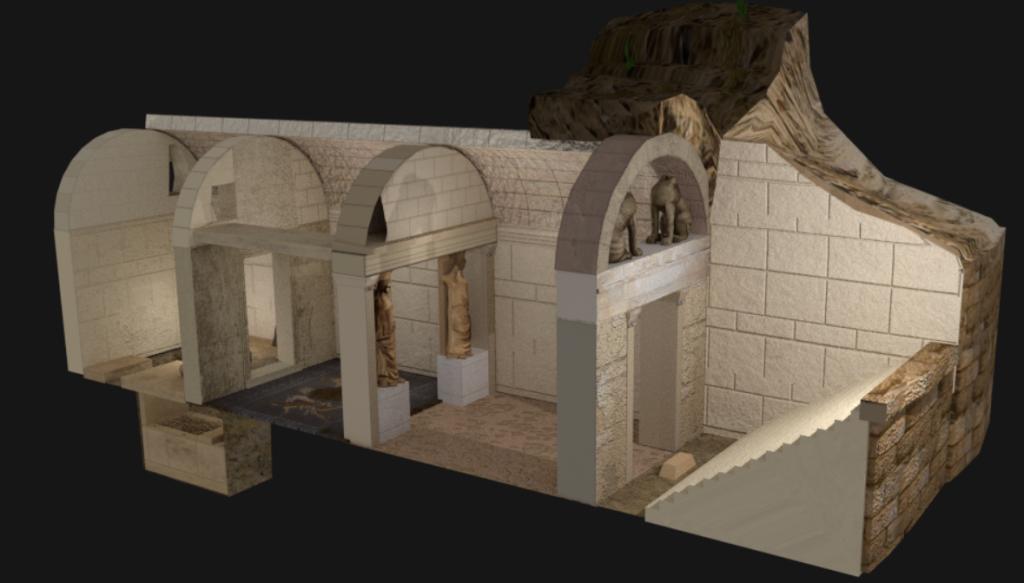 Amphipolis 3D Reconstruction (Wikimedia Commons)