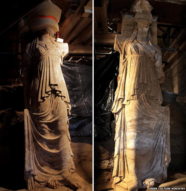 Amphipolis - The Caryiatids
