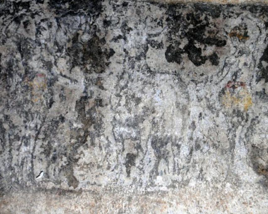 Amphipolis - second chamber - architrave frescoes