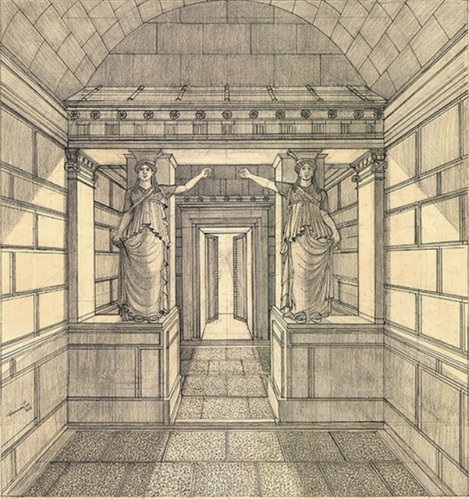 Amphipolis tomb artist impression (illustrated by Gerasimos Gerolymatos - Creative Commons)
