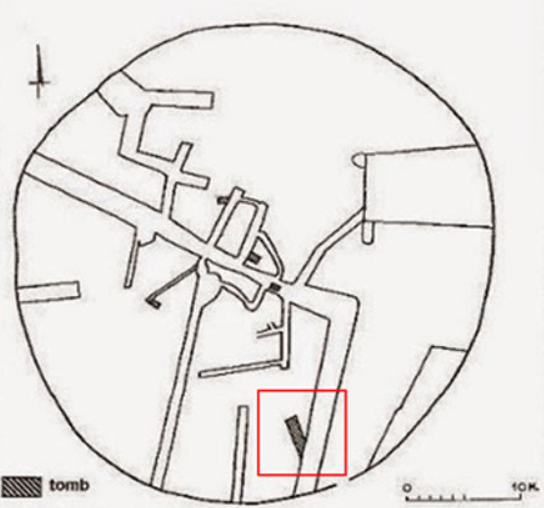 Amphipolis - tomb position in larger mound