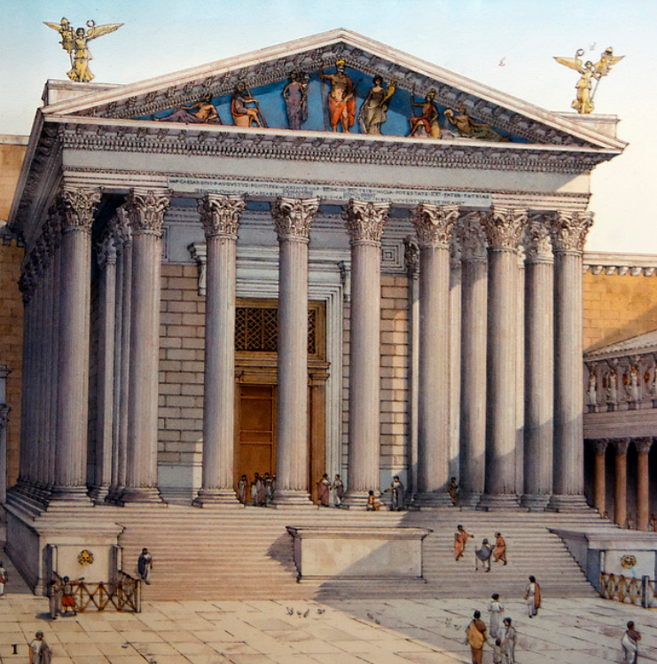 Artist impression of theTemple of Mars Ultor