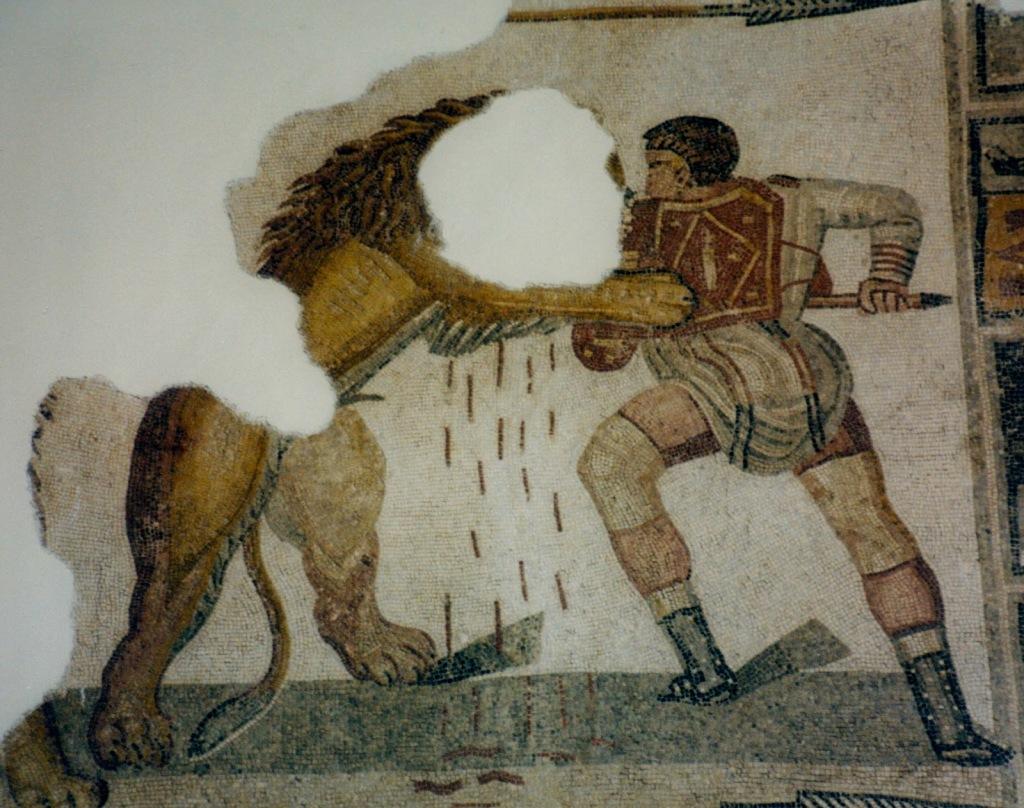 Gladiatorial scene
