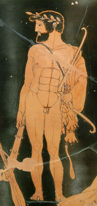 Herakles wearing a victor's wreath - This is how Milo supposedly dressed for the battle with Croton's enemies