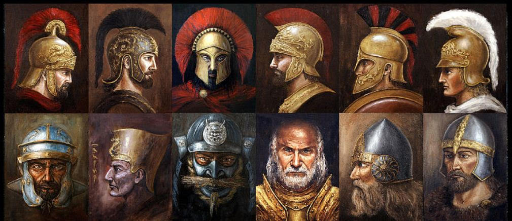 Ancient Warriors - painting by Arturas Slapsys