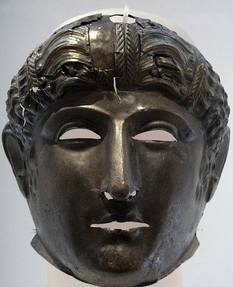 Bronze Roman Cavalry mask Newstead