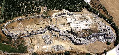 Aerial view Tiryns
