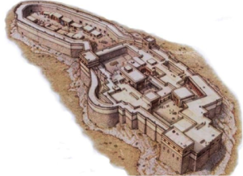Artist Reconstruction of the Citadel of Tiryns