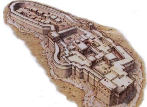Artist Reconstruction of the Citadel of Tiryns