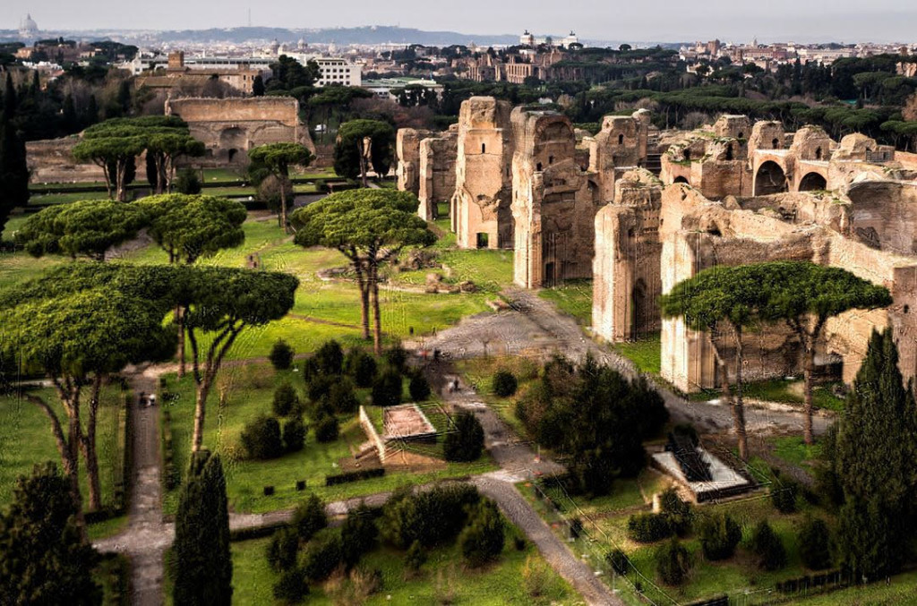 The magnificent ruins of the Baths of Caracalla, Rome