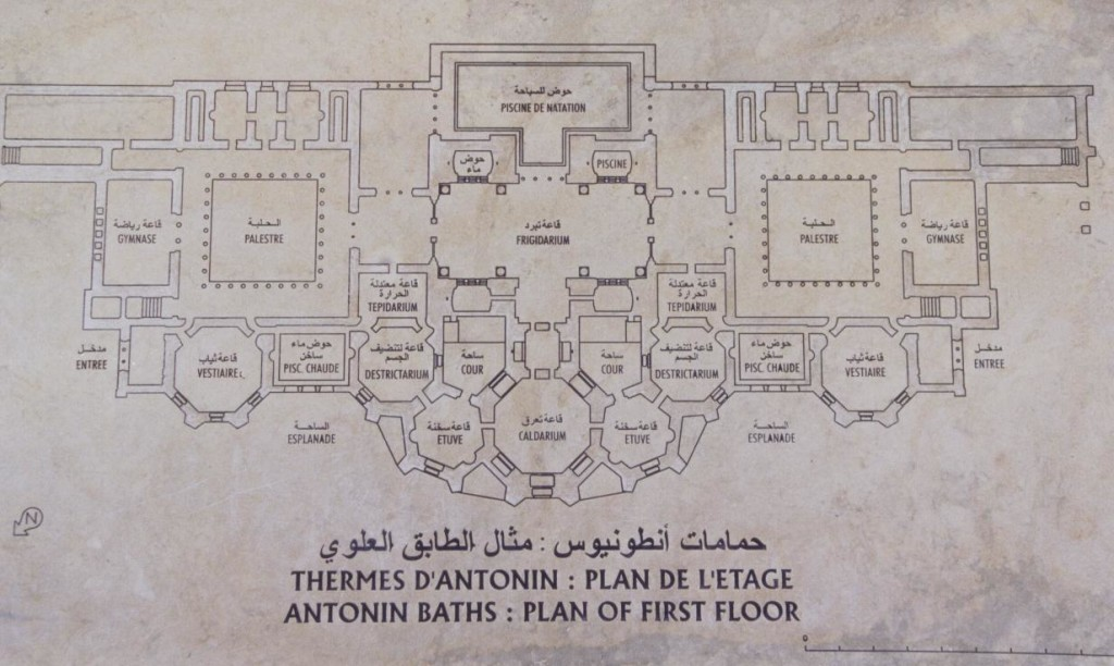 Layout of the Antonine Baths of Roman Carthage (modern Tunis)