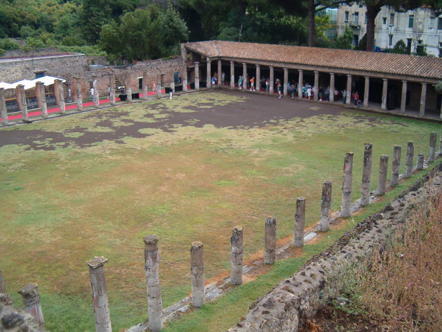 A palaestra in Pompeii