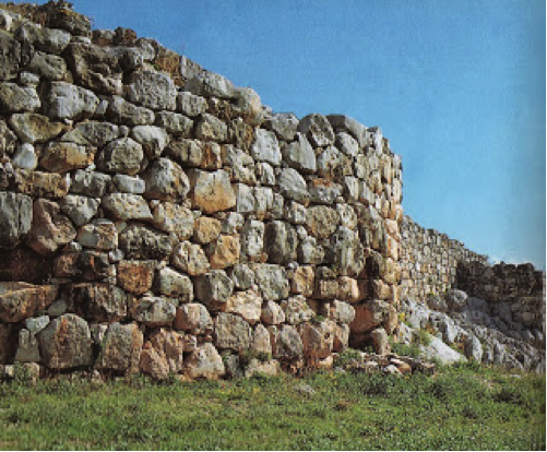 West wall of Tiryns