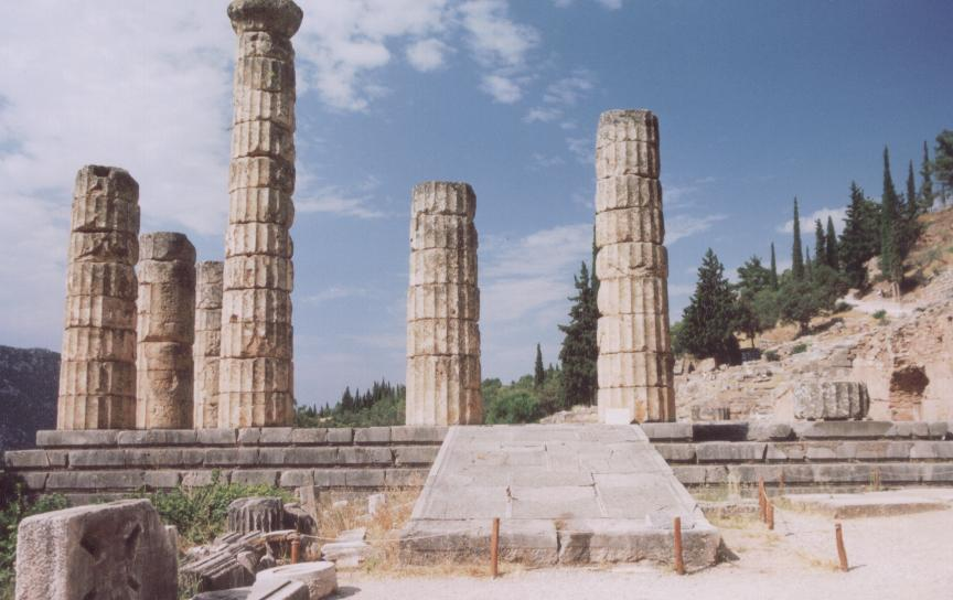 Temple of Apollo at Delphi, home of the Oracle
