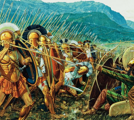 The Spartans at Thermopylae - Illustration by the great, Peter Connolly