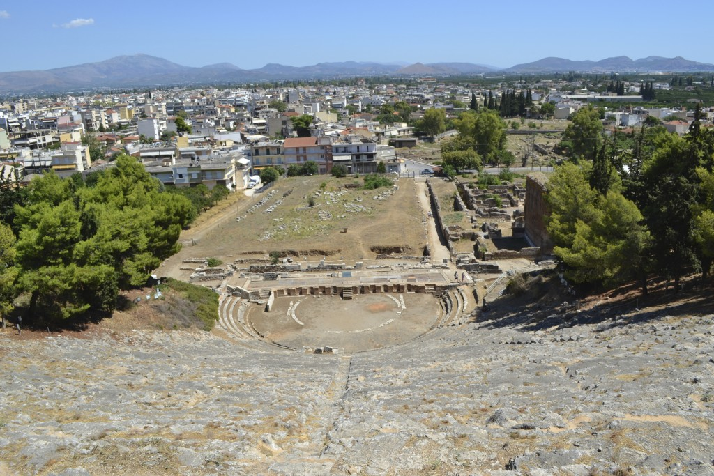 Theatre and agora of ancient Argos