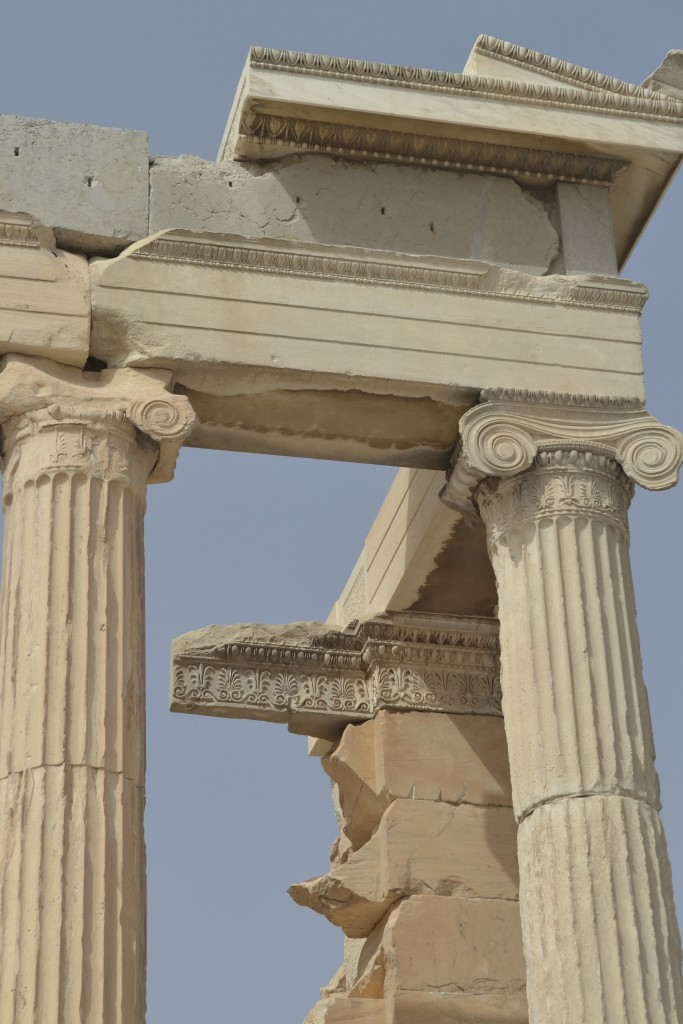 Detail of the Erectheion on the Acropolis of Athens