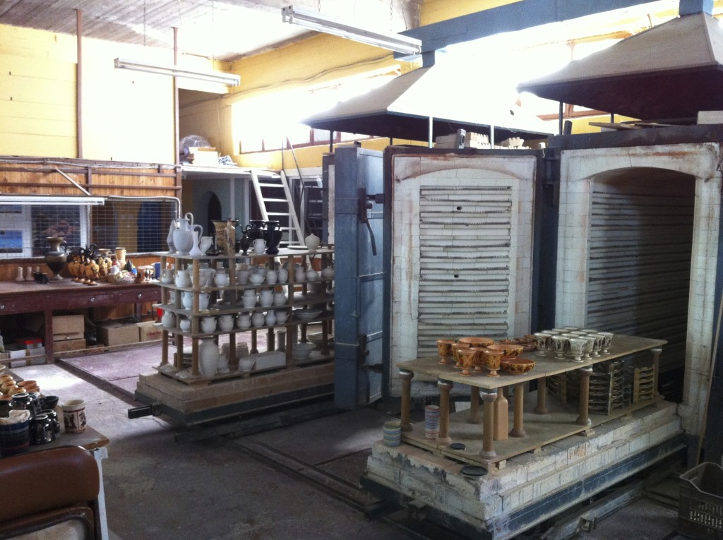 The kilns - ovens where the ceramics are baked