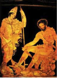 Odysseus and Teiresias in Hades