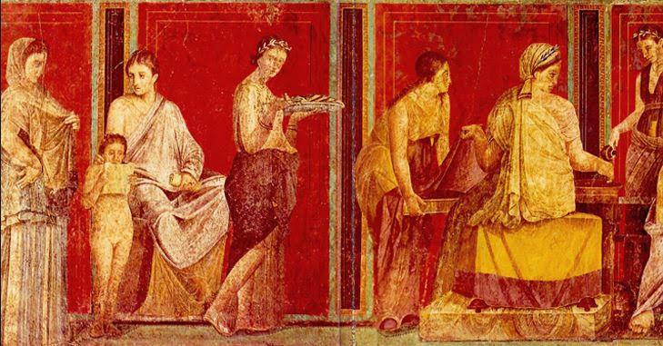 Fresco from Pompeii's Villa of Mysteries