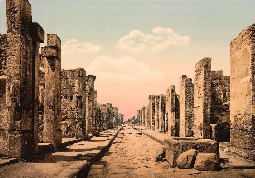 Vintage Postcard of Pompeii