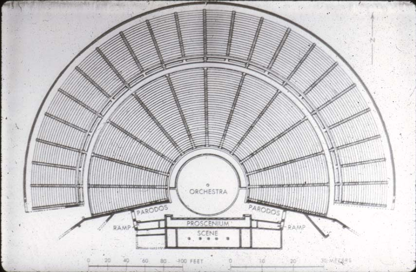 Plan of the Theatre of Epidaurus