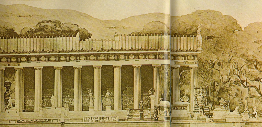 Reconstruction of the Temple of Asklepios' south side (from site guide book)
