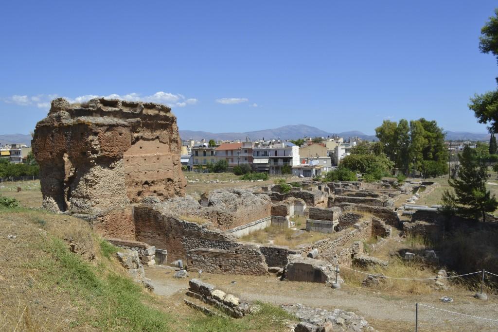 The Roman baths next to the theatre