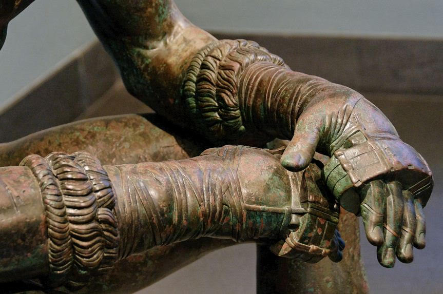 Himantes - from Hellenistic bronze of a boxer