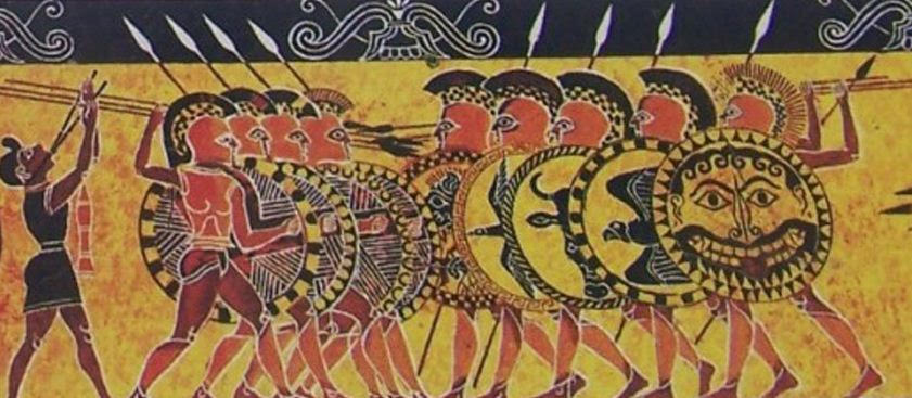 Ancient Greek Hoplites in Battle