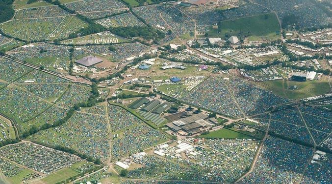 Glastonbury Festival's tent city