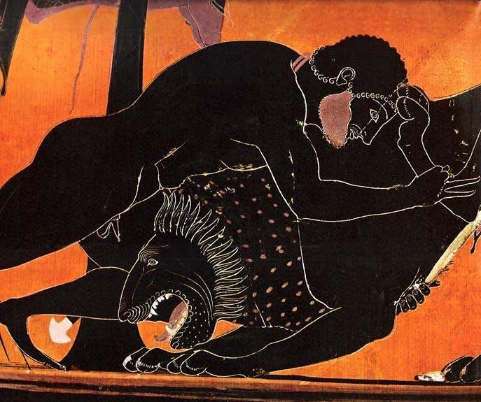 Herakles and the Nemean Lion