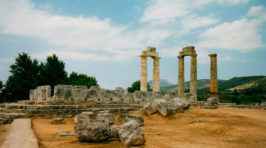 Temple of Zeus - before some of the columns were re-erected