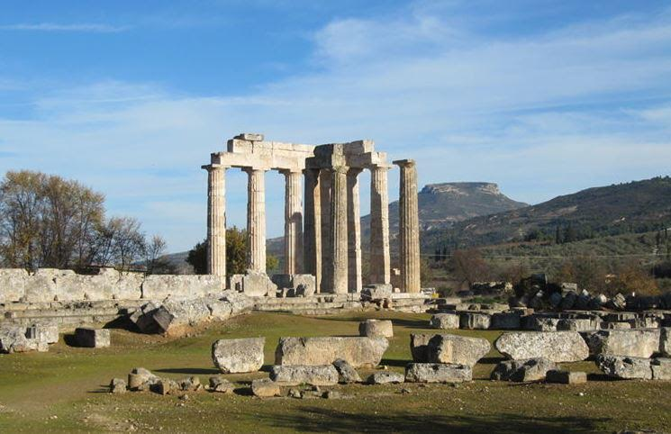 The temple of Zeus at Nemea after some of the columns were re-erected in 2013