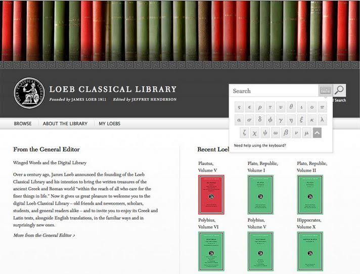 Loeb Classical Library On-line