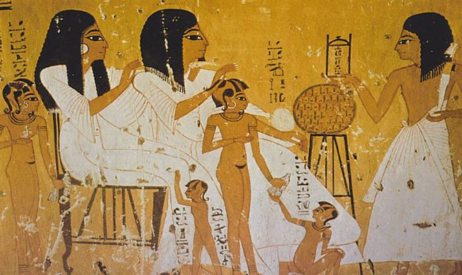 Egyptian women and children