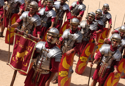Roman Re-enactment group on the march!