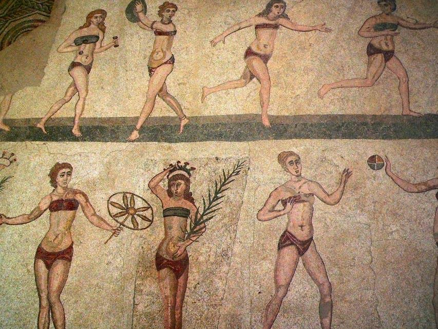 Roman women exercising