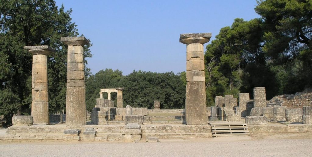 The Temple of Hera at ancient Olympia