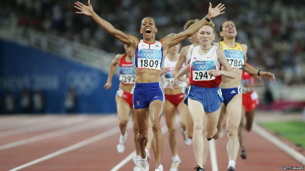 Women's 1500 meter runners in Athens 2004