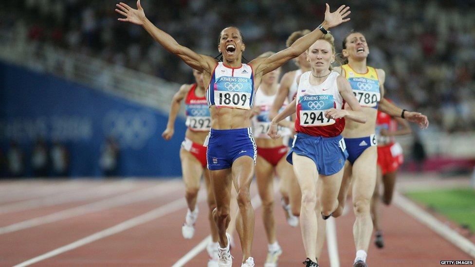 Women's 1500 meter runners in Athens 2004