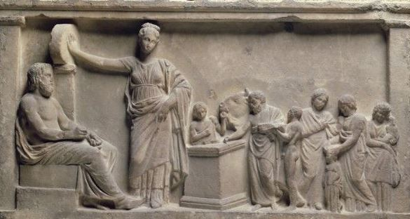 A Roman family making their offerings to the Gods